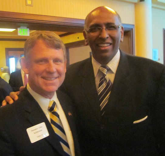 Sen. Allan Kittleman and former Lt. Gov. Michael Steele, now an MSNBC commentator