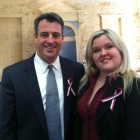 Heather Sinclair with Attorney General Doug Gansler.