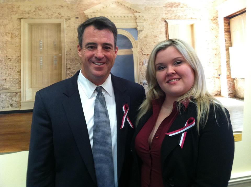 Heather Sinclair with Attorney General Doug Gansler.