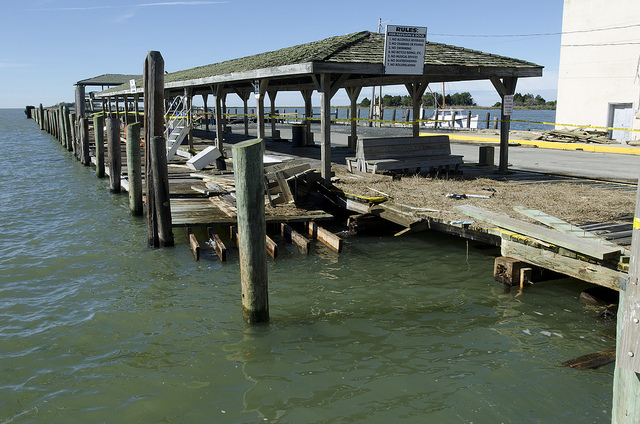 Crisfield dock Hurricane Sandy (By MdGovPics on Flickr)