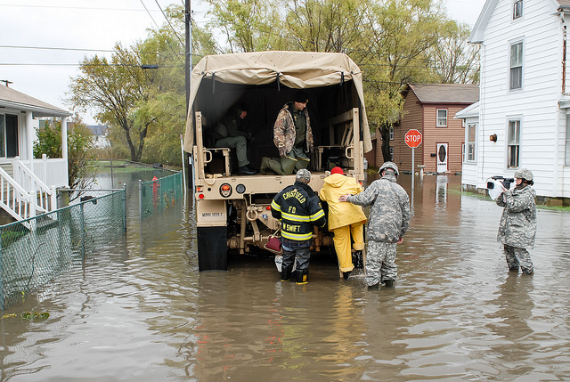 Crisfield flooding 2012 (Photo by Maryland National Guard on Flickr)