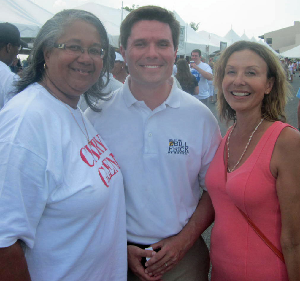 Del. Cheryl Glenn, D-Baltimore City, left, Del. Bill Frick, D-Montgomery, a candidate for attorney general, and Del. Jolene Ivey, D-Prince George's.