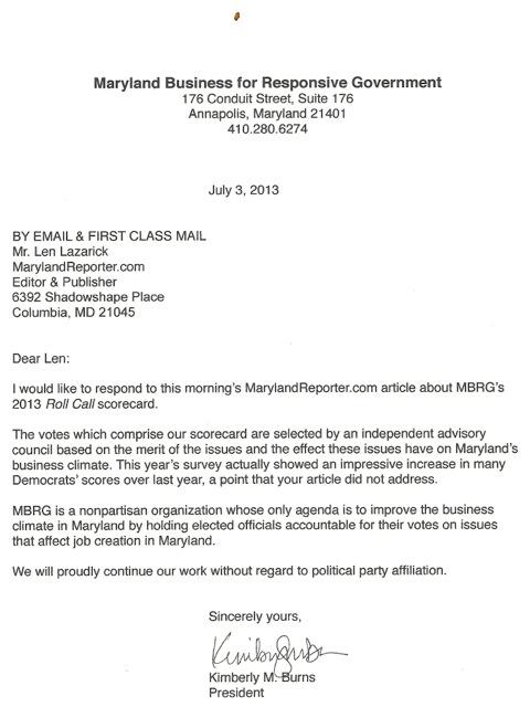 MBRG letter