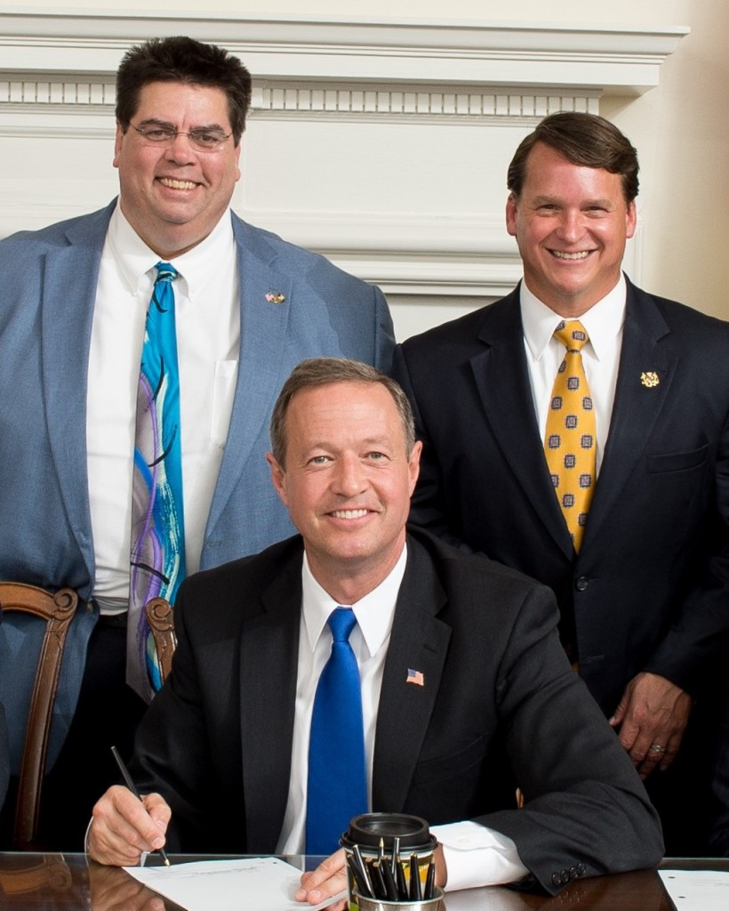 From left: Mike Smigiel, Martin O'Malley, Steve Hershey