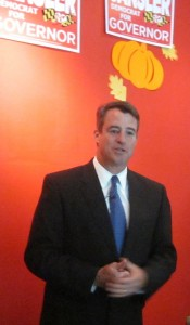 Attorney General Doug Gansler on his announcement tour.