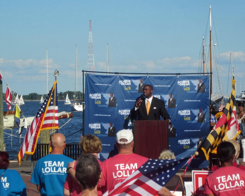 Charles Lollar at Annapolis city dock.