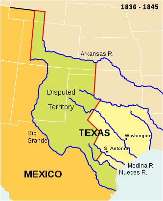 Republic of Texas map 1836