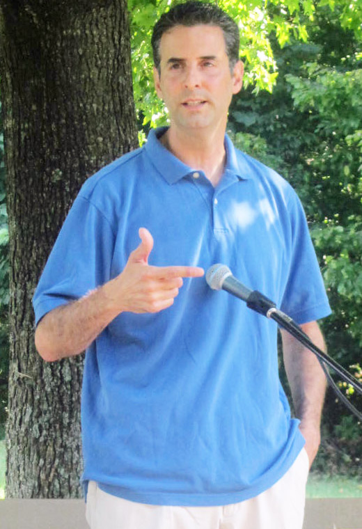 Rep.John Sarbanes at Labor Day picnic in Columbia.