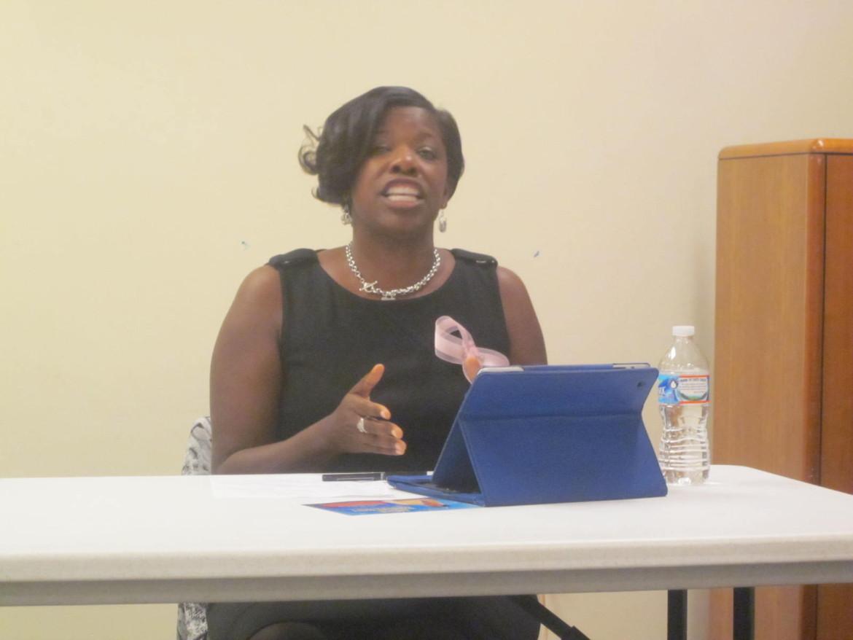 Del. Aisha Braveboy at the AG forum.