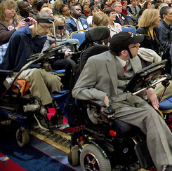 Some people with disabilities are able to advocate for themselves and others.