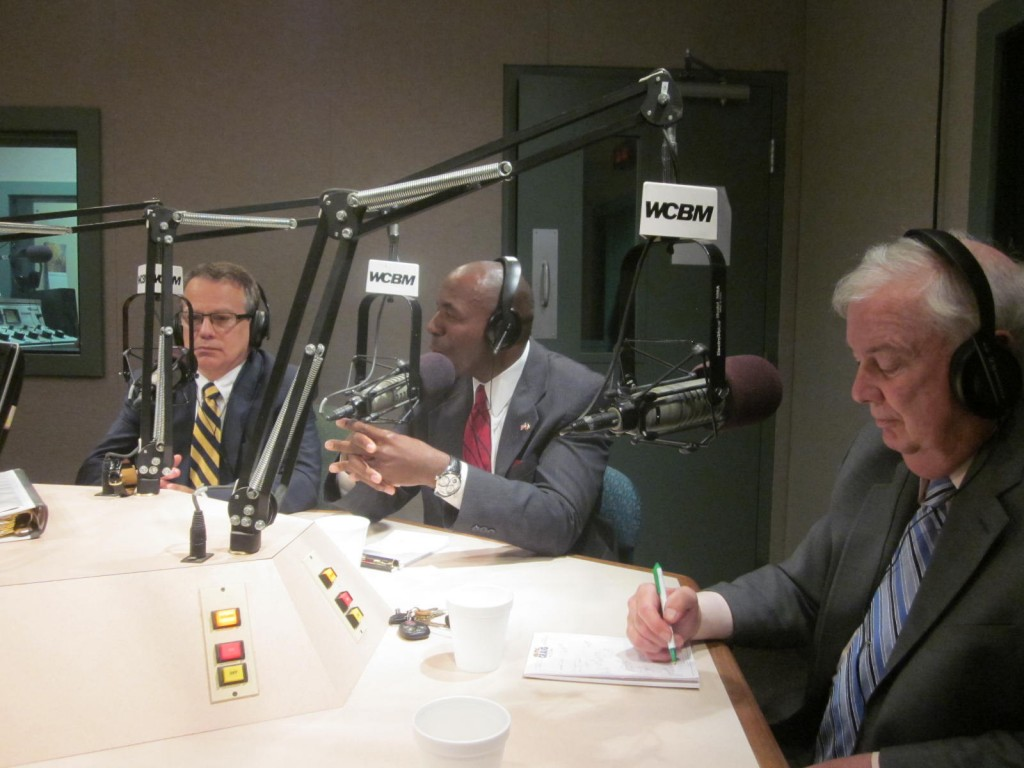 On WCBM Thursday, from left, Ron George, Charles Lollar, and David Craig.