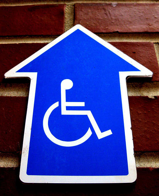 Handicap wheelchair sign by Skakerman on Flickr