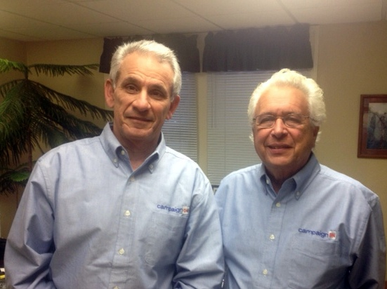 Herb Sweren, left, and Barry Silverman, co-founders of CampaignOn.