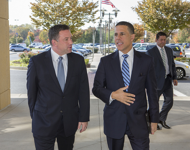 Lt. Gov. Anthony Brown, right, and his running mate, Howard County Executive Ken Ulman