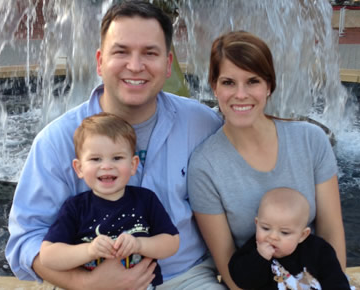 Derek Howell, a Republican, is running for delegate in District 34. He is pictured here with his family.