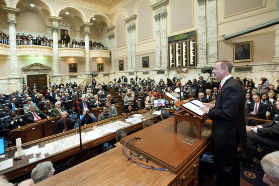 Gov. Martin O'Malley delivers the State of the State address Thursday.
