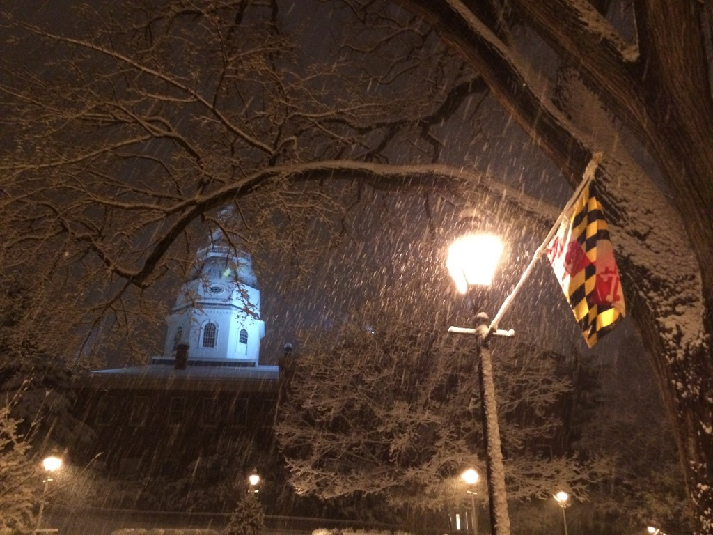 State House in snow (Photo by Matt Proud)