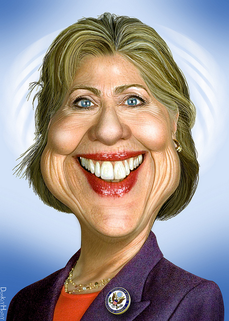 Hillary Clinton (By DonkeyHotey on Flickr Creative Commons)