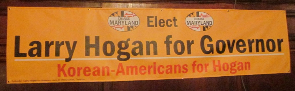 Korean Americans for Hogan sign
