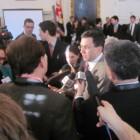 Health Secretary Joshua Sharfstein answers reporters questions.