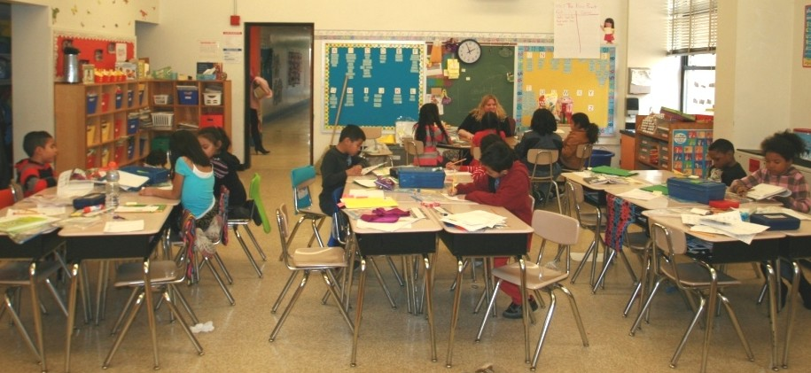 A second grade classroom at Gaithersburg Elementary School.
