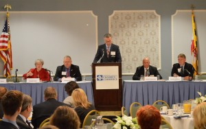 At its annual legislative wrap-up session April 30, the Howard County Chamber of Commerce heard from Dels. Gail Bates and Warren Miller, moderator Mike Fowler of BGE, Sens. Ed Kasemeyer and Allan Kittleman.