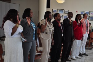 New probation officers take oath last week.