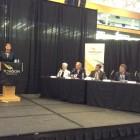 Del. Heather Mizeur speaks at Towson University debate sponsored by the Baltimore Economic Forum.