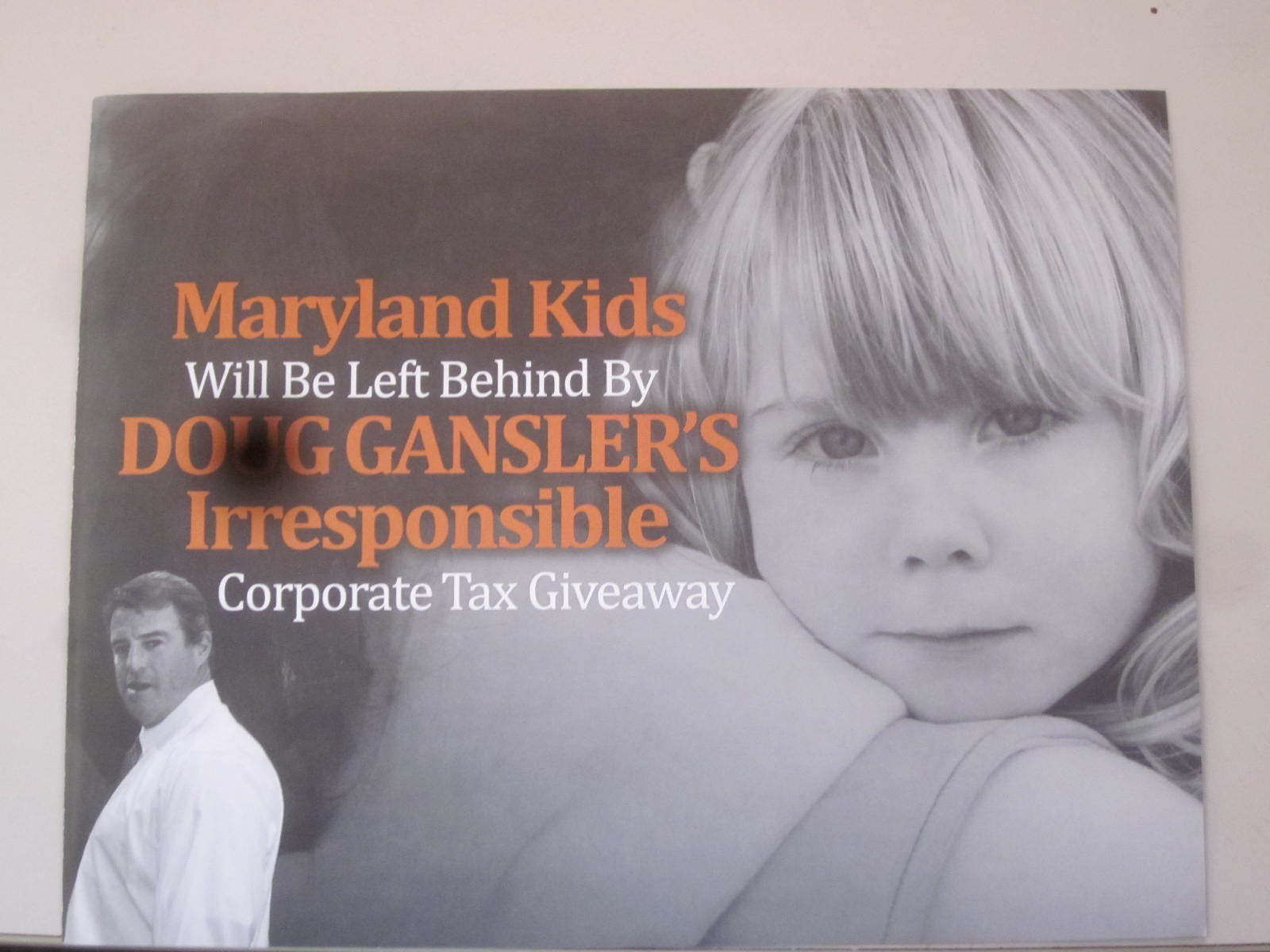 Brown mailer attacks 'Gansler's Irresponsible, Republican Tax Giveaway'