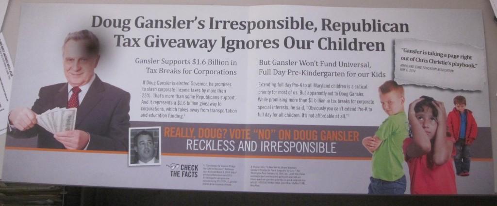 Brown mailer on Gansler inside