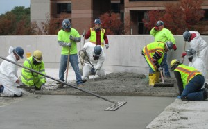 Concrete remediation work at Silver Spring Transit Center