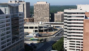 Silver Spring Transit Center aerial view (Photo by Bruce Lee)