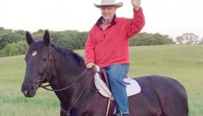 David Brinkley on a horse