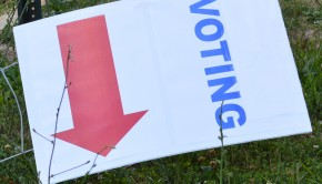 Voting down sign