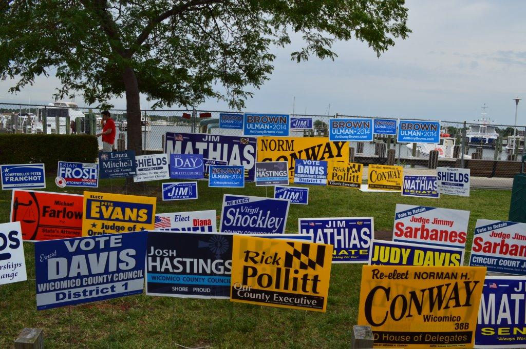 Signs at Tawes