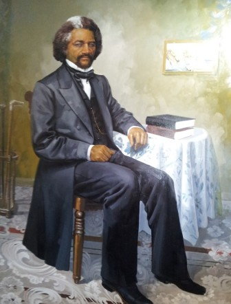 This portrait of Frederick Douglass was hung in the governor's mansion in 2014.