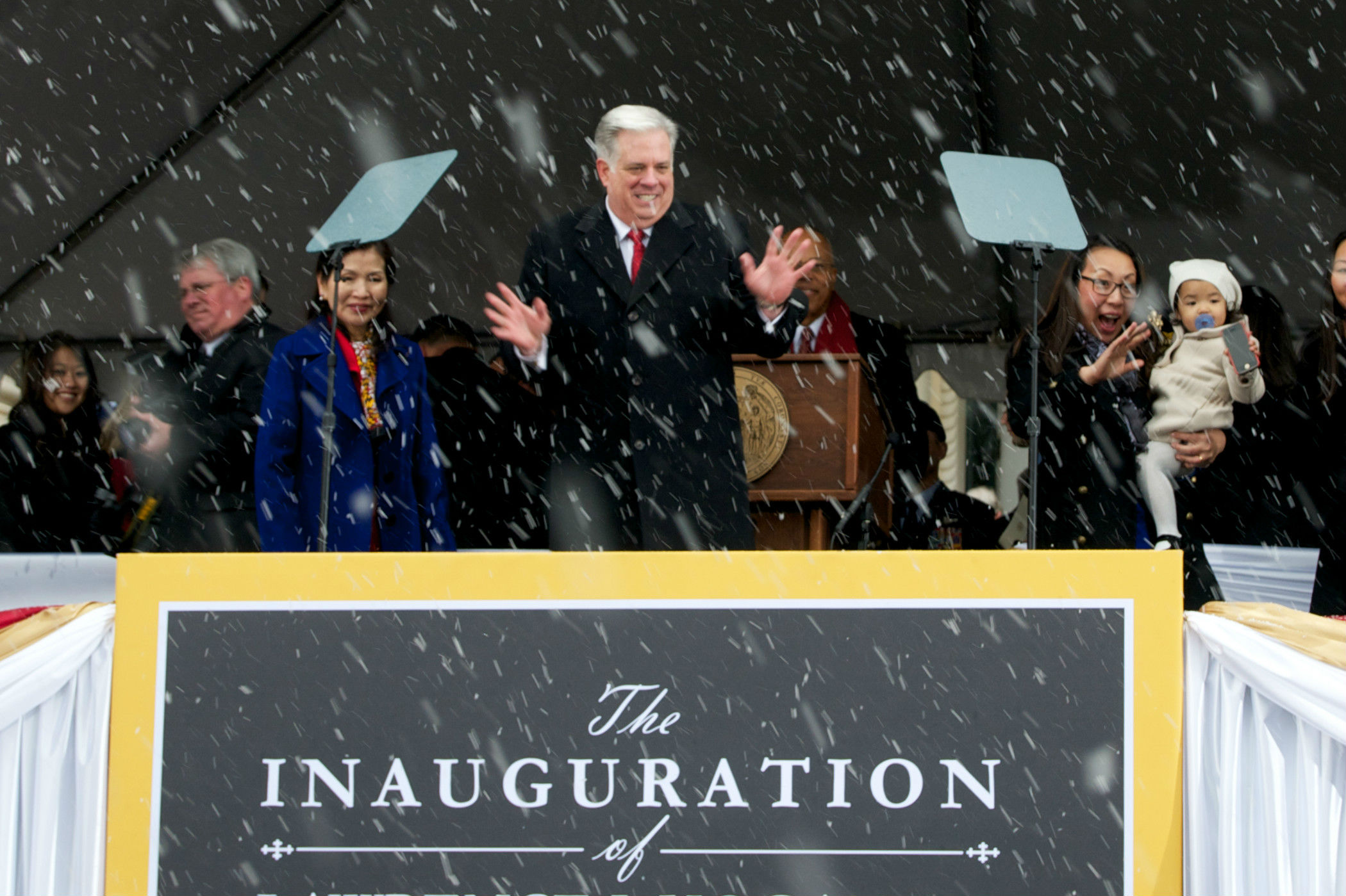 Photos from Hogan's inauguration