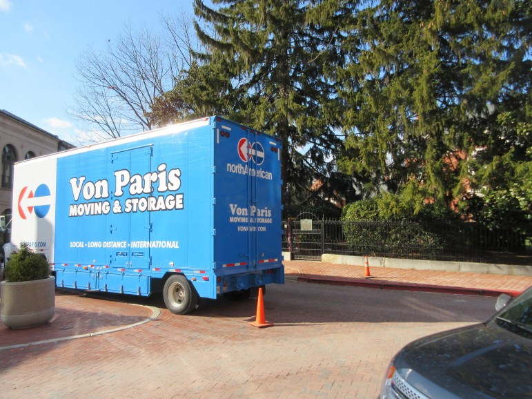 Moving van at Government House