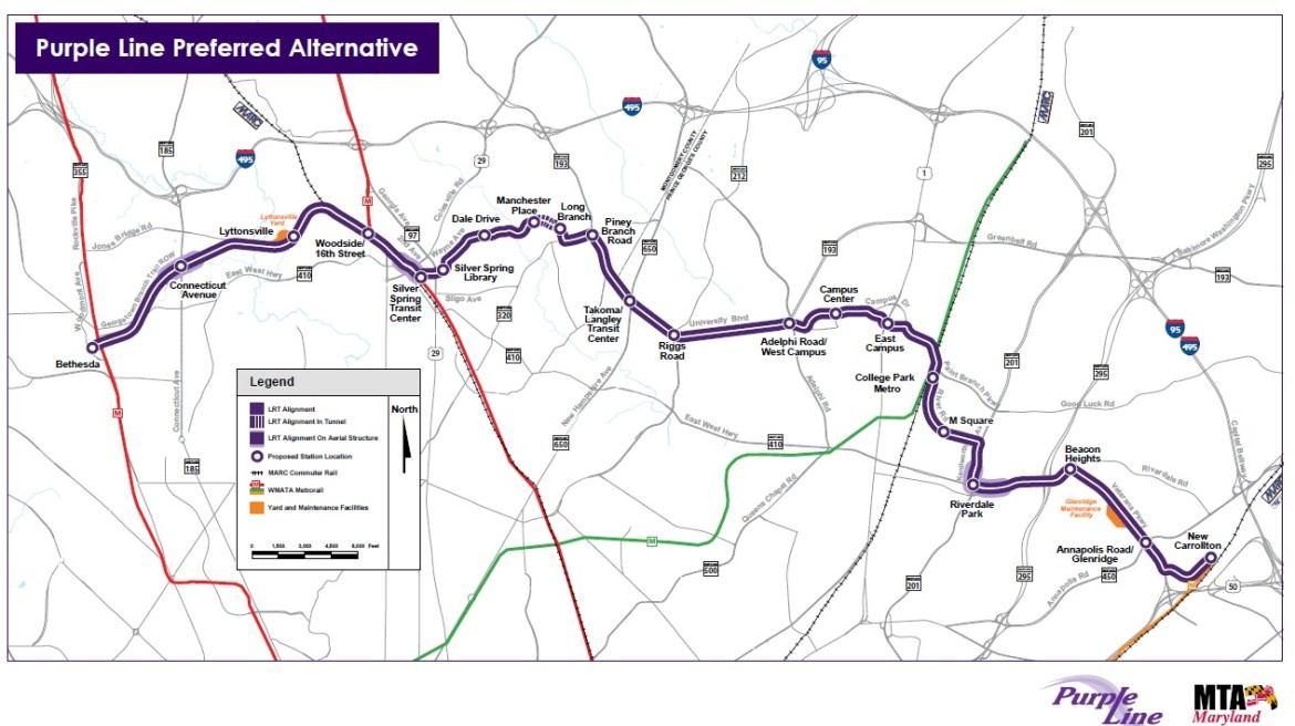 Purple Line Map Bond rating firm differs with Treasurer Kopp over Purple Line debt