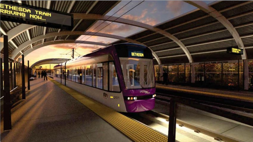Purple Line Riverdale Park Bethesda Train
