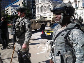 National guard at Baltimore City Hall