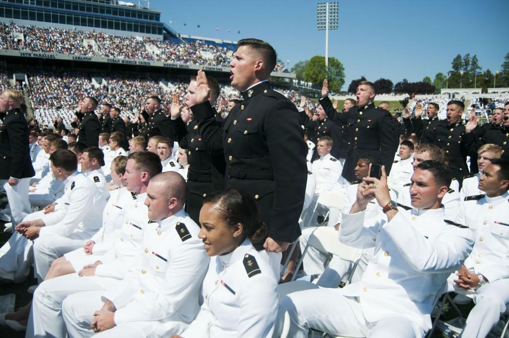 Naval academy marines sworn in