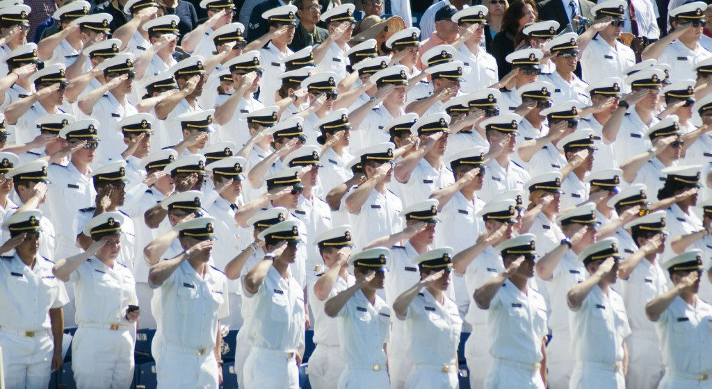 Naval academy salute