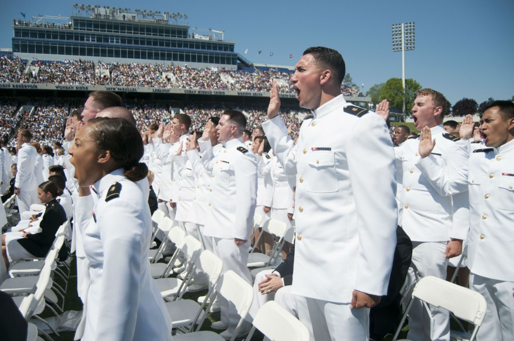 Naval academy swearing in