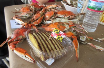 Tawes Crabs and cake