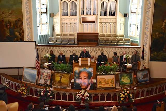 "Gov. Larry Hogan spoke Sunday at the funeral of Dr. Kieffer Mitchell Sr.  ""Keiffer Mitchell loved his neighbors even more than himself - that is his legacy. And my prayer today is that his legacy will live on in our lives, and in the life of the city of Baltimore."""