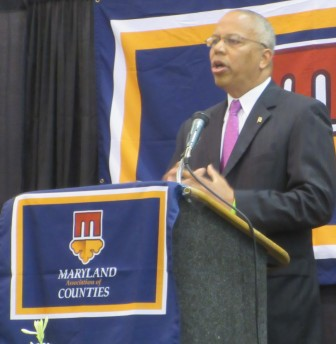 Lt. Gov. Boyd Rutherford gives closing speech at Maryland Association of Counties summer conference.