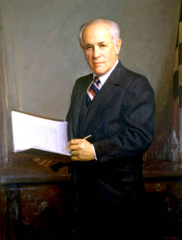 Mandel portrait in Governor's Reception Room. Maryland State Archives