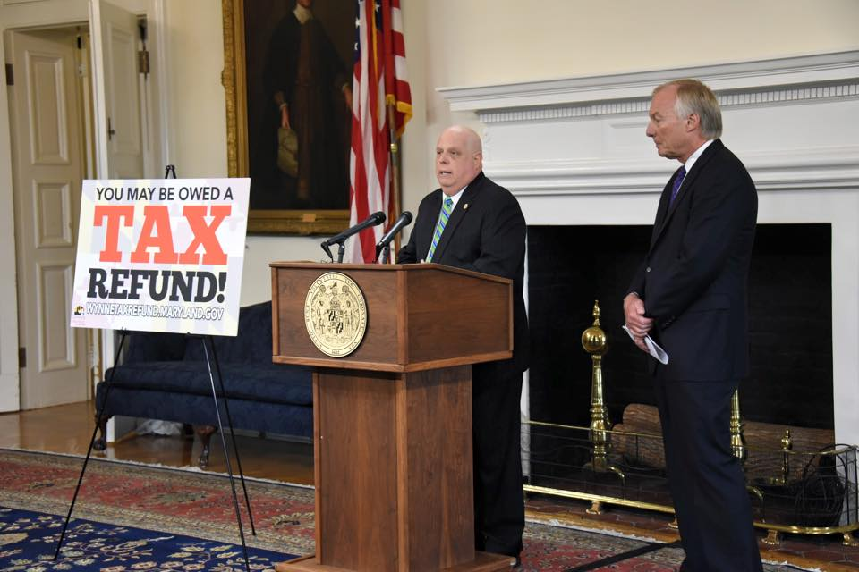 Hogan, Franchot tout $200M tax refund, but judges and Howard County couple deserve credit