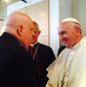 Gov. Larry Hogan met Pope Francis Thursday. From Hogan's Facebook page
